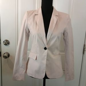 H & M light pink fully lined one button Blazer